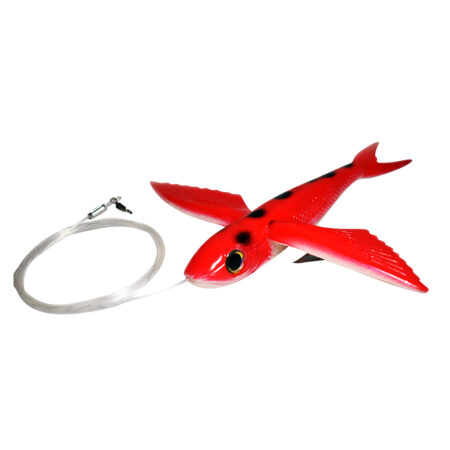 Red Flying Fish Rigged