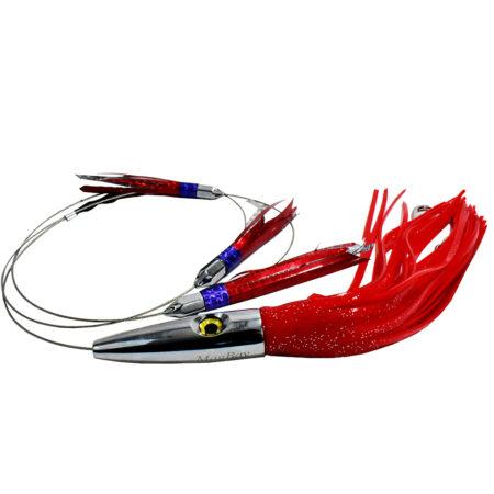 red plomerito daisy chain wahoo lure