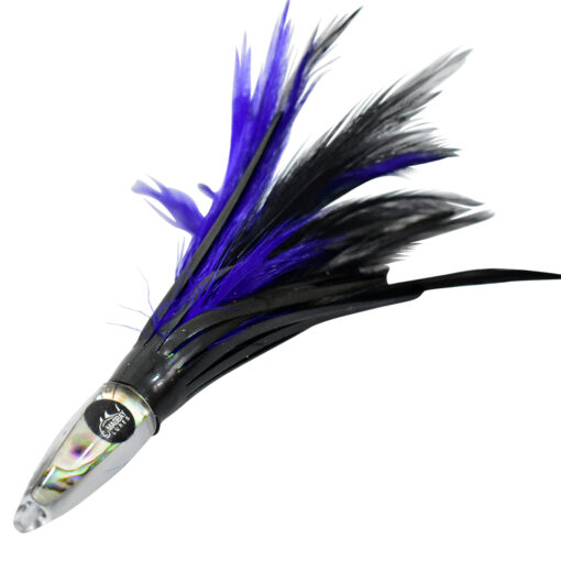 Purple tuna feather lure