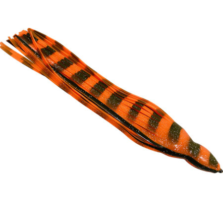 Orange Black replacement marlin lure skirts