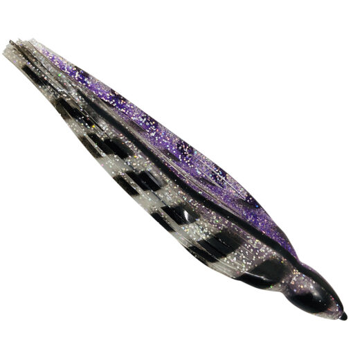 Purple black replacement marlin lure skirts