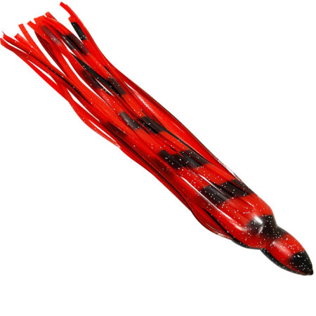 Red black replacement marlin lure skirts